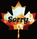 Sorry Sauce Canadian Hot Sauce